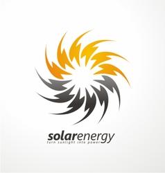 Solar energy logo design concept vector image vector image