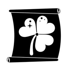 St patricks day clover paper pictogram vector