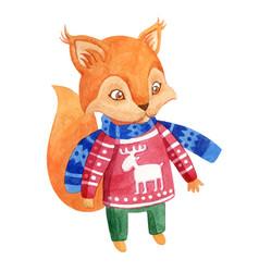 watercolor style squirrel vector image