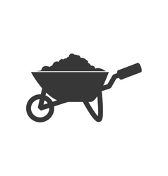 Wheelbarrow icon repair and construction design vector