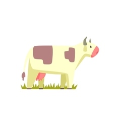 Cow toy farm animal cute sticker vector