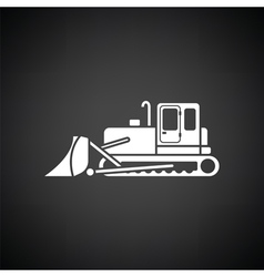 Icon of construction bulldozer vector