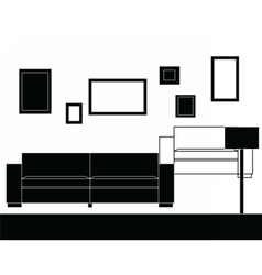 Modern sofa furniture set vector