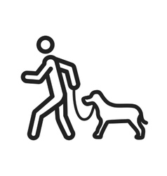 Walking Dog vector image