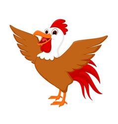 cute rooster cartoon vector image