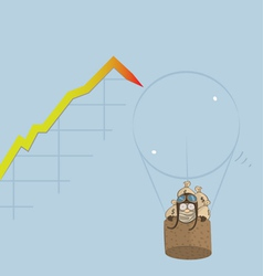Market bubble burst vector