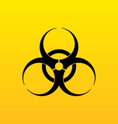 Bio hazard sign danger symbol warning vector