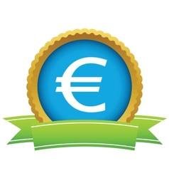 Gold euro logo vector