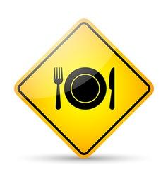 Restaurant road sign vector image
