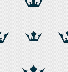 Crown icon sign seamless pattern with geometric vector