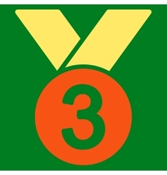 Bronze medal icon from competition  success vector