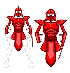 Armor template vector