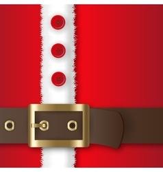 Santa Claus costume vector image