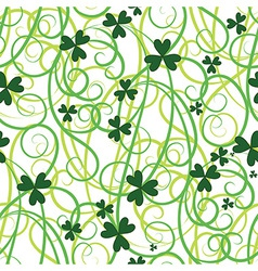 Seamless shamrock leaves vector