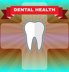 Dental health flyer vector