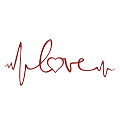 love ekg vector image