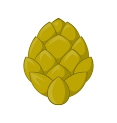 Hop cone icon in cartoon style vector