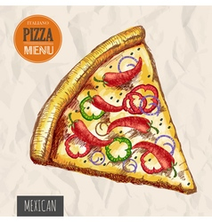 A slice of mexican pizza vector