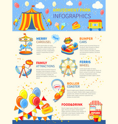 amusement park potential infographics layout vector image vector image