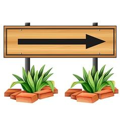 An arrow sign vector image