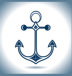anchor icon nautical theme vector image vector image