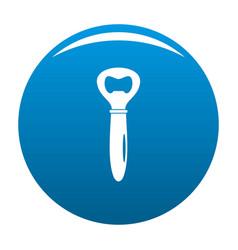 Bottle opener icon blue vector