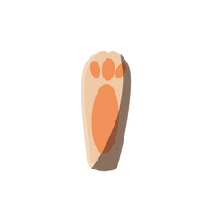 Bunny foot icon vector