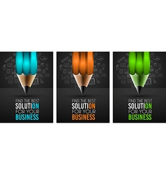 Business success concept with doodle design style vector