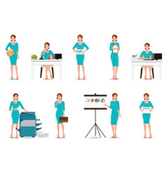 business working women in smart suit isolated on vector image vector image