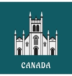 Canadian architecture gothic temple landmark vector