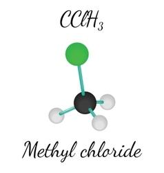 CClH3 methyl chloride molecule vector image vector image