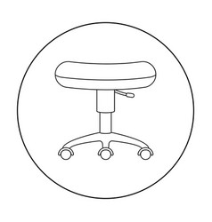 Chair rolling icon outline single tattoo icon vector