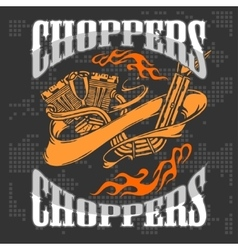 Choppers - vintage bikers badge vector