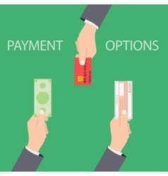 concept of payment options in flat style vector image vector image