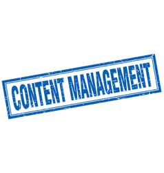 Content management square stamp vector