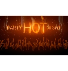 Disco flyer hot night party vector