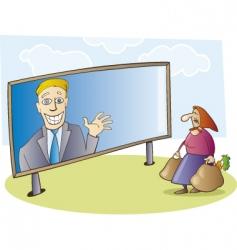 election campaign billboard vector image vector image