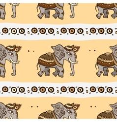 Elephants ethnic seamless background vector