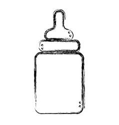Figure baby feeding bottle to drink vector