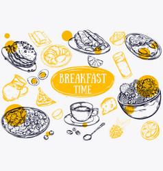 food breakfast brochure vector image