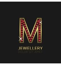 Golden Letter M vector image