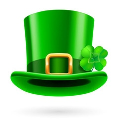 Green hat vector image