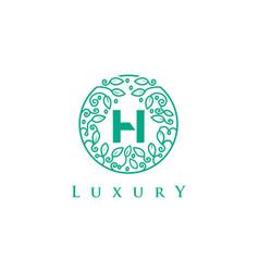 H letter logo luxurybeauty cosmetics logo vector