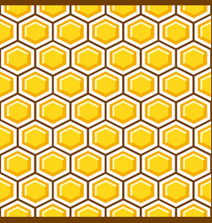 honey comb pattern cells background vector image vector image