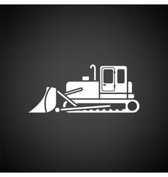 Icon of Construction bulldozer vector image
