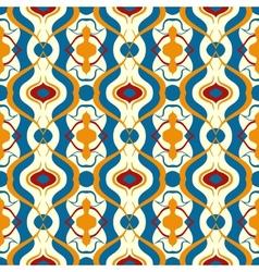 Multicolor pattern with arabic motif vector