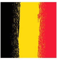 National Grunge Flag of Belgium vector image vector image