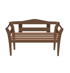 Park bench isolated over a white background bench vector