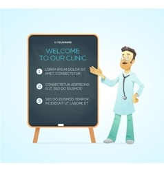 Portrait medical doctor on advertisement board vector