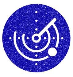 radar icon grunge watermark vector image